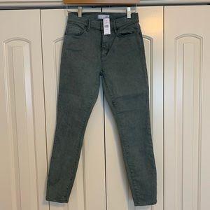 Loft Modern High Waist Skinny Ankle Jean in Sage